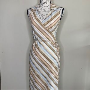Rue 21 collared faux wrap dress